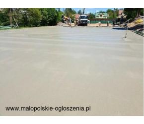 Posadzka przemysłowa DST wylewka betonowa HALA GARAŻ MAGAZYN PODJAZD PLACE BETONOWE chudziak